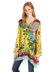 Amazon.com: Johnny Was Women's Botanical Lace Border Tunic: Clothing