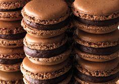 Chocolate Macaroons with Orange Ganache
