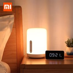 Xiaomi Mijia Bedside Lamp 2 Smart Table LED Night Light Colorful 400 Lumens Bluetooth WiFi Touch Control for Apple HomeKit Siri Bedside Lighting, Bedside Lamp, Desk Lamp, Table Lamp, Table Desk, Bluetooth, Kit Homes, Light Table, Lamp Light