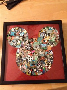 Previous Pinner:  Great Idea! Our Disney pins that we collected during pin trading. Collage of pins!