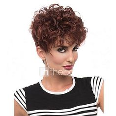 Popular Mixed Brown Color Wigs For Black Women Curly Synthetic European Women Wigs 2017 - €15.66