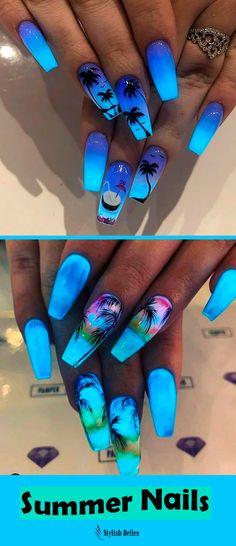 cute summer nail designs to copy - nails - . - 18 cute summer nail designs to copy – nails – / A …, Best cute summer nail designs to copy - nails - . - 18 cute summer nail designs to copy – nails – / A …, Best - Cute Summer Nail Designs, Cute Summer Nails, Cute Acrylic Nail Designs, Nail Summer, Tropical Nail Designs, Nail Ideas For Summer, Coffin Nail Designs, Summer Stiletto Nails, Tropical Nail Art