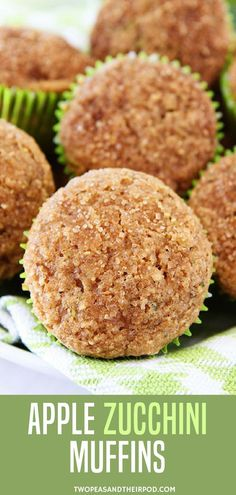 Apple Zucchini Muffins-these healthy whole wheat zucchini muffins are easy  to make db2cb4049