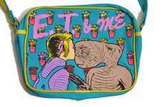 E.T. & ME Extra-Terrestrial Purse Bag Drew Barrymore 1982 Vtg Lunchbox Movie