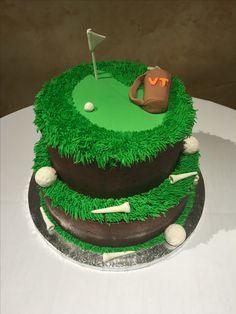 Golf cake, grooms cake, chocolate, golf, cakesnmora