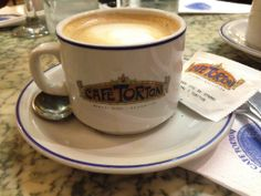 Café Tortoni - you must go to this world-famous café while in Beunos Aires. See where famous artists, poets and great thinkers convened over the years, while enjoying a latte and croissant. #cafetortoni #travel #beunosaires