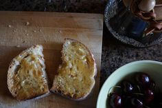 One of the best things about a weekend in the Okanagan is all the treats! @farmersdotter Sourdough toast with @summerlandsweets Pear & Ginger Marmalade @backyardbeans coffee in the Chemex and cherries from Harker's Organics. #breakfast http://ift.tt/1U25kLY