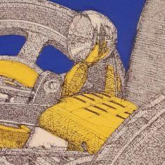 Bugatti drawing detail 2 #ink #inktober #blue...