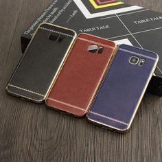 Ultra Thin Soft Leather+TPU Case Cover For Samsung Galaxy S7 Edge