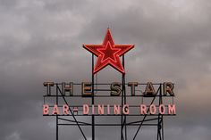 The Star Dining room neon sign