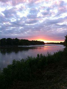 Mascaret Surf - Garonne - coucher soleil