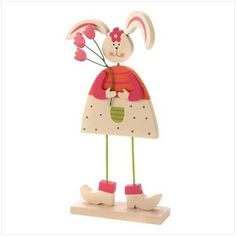 Sweetheart Easter Bunny Wood Metal Decorative Figurine by Furniture Creations, http://www.amazon.com/dp/B003KVB2LM/ref=cm_sw_r_pi_dp_U18uqb0RS7YRW