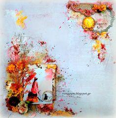 Scrapiniec inspirations on blogspot: A calming lay out... by Eirini Tsaima.