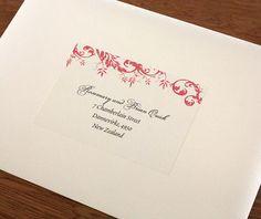 Red Poppy Address Label Template Envelopes Address Label Template - Envelope address label template