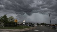 Storm clouds and heavy rain move in on the Barrington High School area as the girls track meet is delayed. Track Meet, Storm Clouds, Thunderstorms, High School, Rain, Sports, Outdoor, Girls, Sport