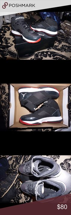 """Jordan BCT Mid 2 Men's 8.5 Brand new never been worn! NOT the Air Jordan 11 retro """"Bred"""" look similar but they are not the 11s! Bought this years ago at Champs but never been worn! Jordan Shoes Athletic Shoes"""