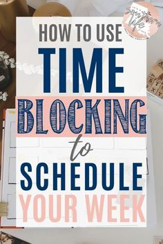 How to use time blocking to schedule your week. Schedule and organize your week for better time management and productivity by using time blocking. Here are my steps that I use to plan my week along with my schedule and printable planner. Time Management Tools, Time Management Strategies, Time Management Planner, Time Management Printable, Time Management For Students, Planner Stickers, Printable Planner, Free Printables, How To Stop Procrastinating