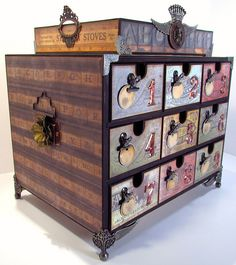 Organizer storage drawers - the Gentleman Crafter - includes pics and tutorial