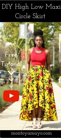 African Print Fashion, African Print Skirt, DIY Skirt, How to sew a skirt, High Low Maxi Skirt, Circle skirt, sewing for beginners, sewing tutorials, Modern African Fashion, Ankara Skirt, Ankara Fashion, DIY Maxi Skirt, Maxi Skirt, Learn to Sew, DIY Fashion, Sewing Clothing, African fashion styles, Kitenge, Nigerian Style, Ghanaian fashion, Gele, African Wedding, African Women Dresses, Ankara