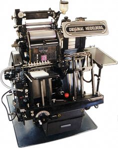 ONE DAY I WILL OWN THIS BEAST! Original Heidelberg Windmill (electric) #printing #heidelberg