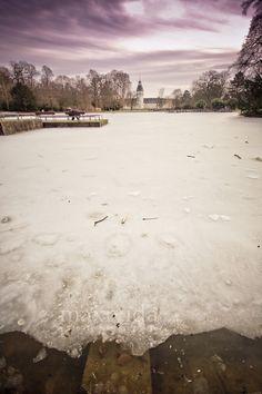 Schlossgarten Karlsruhe during wintertime