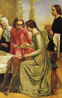 John Everett Millais - Isabella (detail)