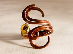 Vintage Copper Swirls Ring   Size 7 by GemstoneCowboy on Etsy