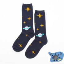 Harajuku Universe Planet Star Cotton Socks