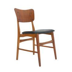 Ib Kofod Larsen dining chairs, set of 4.