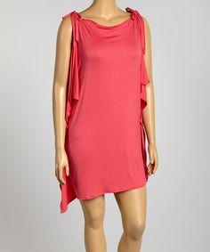 Look at this #zulilyfind! Pink Cutout Dress - Plus #zulilyfinds