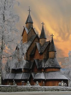 Largest stave church in Norway by Hilde S. Jonsmyr