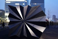 Fantastic Aluminum Origami Kiosks Pop Up in London