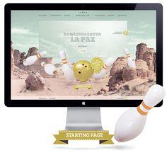 Web Design: Bowling Center La Paz Germany by RODVIG , via Behance
