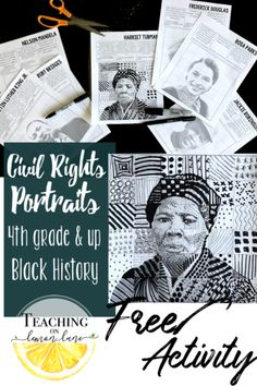 Leaders of the movement free black history month activity Civil Rights Art Project Martin Luther King, Harriet Tubman Rosa Parks and other leaders inspirational quotes Black History Month Activities, Black Leaders, Leadership Lessons, Free Teaching Resources, Cool Art Projects, Harriet Tubman, Rosa Parks, Civil Rights Movement, Native American History