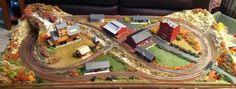 2x4 Small N Scale Model Train Layout