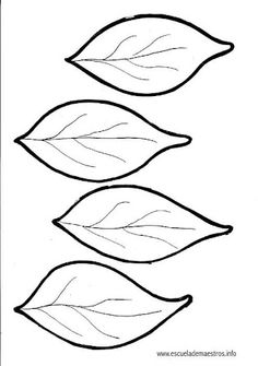 Meeting 10: Leaf templates for family tree activity. Print