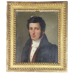 Portrait Of A Man   From a unique collection of antique and modern paintings at http://www.1stdibs.com/furniture/wall-decorations/paintings/