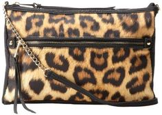 Make your night out something to remember...Jessica Simpson Womens Biaca Leopard Print Cross Body
