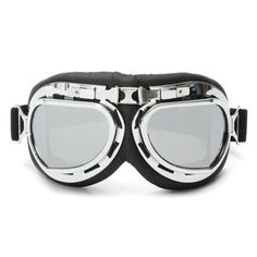 Pilot style motorcycle goggles