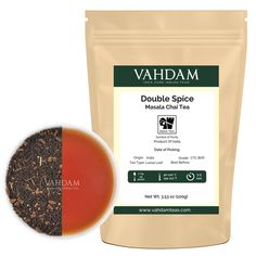 Double Spice, Original Masala Chai Tea (40 Cups), Black Tea blended with Fresh and Rich Spices - Cardamom, Cinnamon, Cloves and Black Pepper, India's Original Masala Chai Extra Strong Spices,3.53oz -- Read more reviews of the product by visiting the link on the image. (This is an affiliate link) #ChaiTea