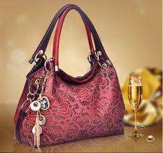 Fashion Leisure Shoulder Hollow Out Leather Woman Handbags #Nunbo #Fashion