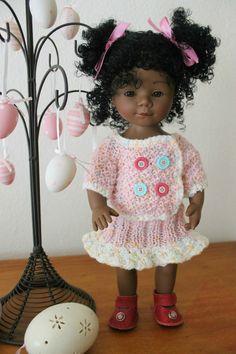 Tuto ensemble (cardigan + jupe) pour poupée d'Nénès Marieta (36 cms)