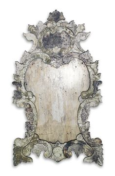 A pair of Venetian cut glass mirrors