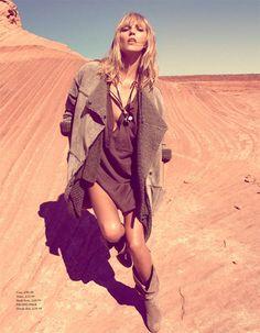 'Arizona Dream' H magazine, Fall 2010 Anja Rubik - Model Camilla Akrans - Photographer Jane How - Fashion Editor/Stylist Miki - Hair Stylist Rose-Marie Swift - Makeup Artist Casting: Creative Chaos Production Company: Creative Chaos