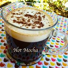 Hot Mocha - Coffee, cocoa & sweetener topped with frothed skim milk.