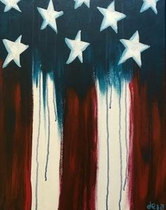 Paint Nite: Discover a new night out and paint and sip wine with friends Summer Painting, Diy Painting, Painting & Drawing, Painting Holidays, Painting Tutorials, Texture Painting, American Flag Painting, American Flag Art, Wine And Canvas