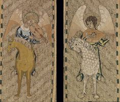 Angels, The Steeple Aston Cope, part of Opus Anglicanum: Masterpieces of English Medieval Embroidery at the V&A.