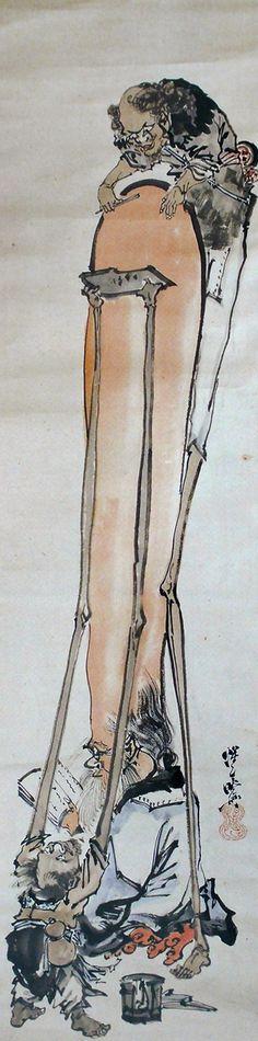 Japaaanでは何度も紹介している幕末の絵師河鍋暁斎。河鍋暁斎の妖怪作品をこれまでにもなんどか触れていますが、ユーモア溢れる作品であったり狂気を感じさせる作品であったり様々。そして今回紹介する作品は常軌を逸した長すぎる、とにかく長すぎる…