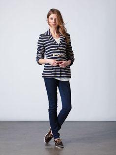 Port Stripe Fleece Blazer - Quiksilver Women's