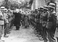 Bosnia and Herzegovina, Hajj Amin al-Husseini, the Mufti of Jerusalem reviewing a unit of Muslim Bosnians in the service of the Nazis.